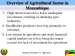 overview of agricultural sector in mozambique3