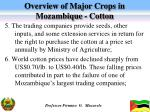 overview of major crops in mozambique cotton