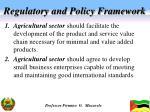 regulatory and policy framework