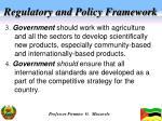 regulatory and policy framework1
