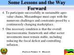 some lessons and the way forward1
