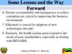 some lessons and the way forward2