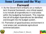 some lessons and the way forward3