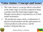 value chains concept and issues