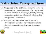 value chains concept and issues1