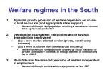 welfare regimes in the south