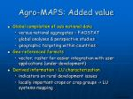 agro maps added value