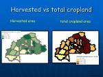 harvested vs total cropland