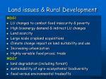 land issues rural development
