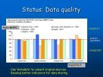 status data quality
