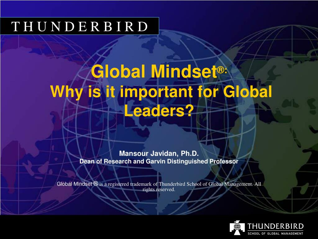 global mindset why is it important for global leaders l.