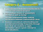 category 5 assessment