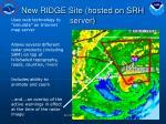 new ridge site hosted on srh server