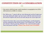 constitution of a congregation