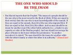 the one who should be the imam