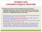 women and congregational prayers