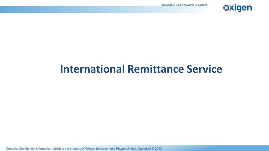 International Remittance Service