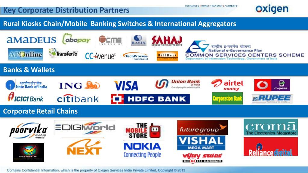 Key Corporate Distribution Partners
