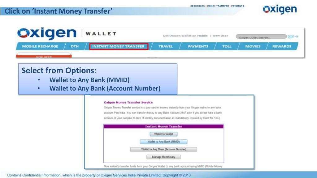 Click on 'Instant Money Transfer'