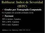 balthazar indice de severidad istc