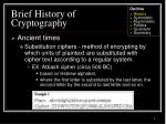 brief history of cryptography