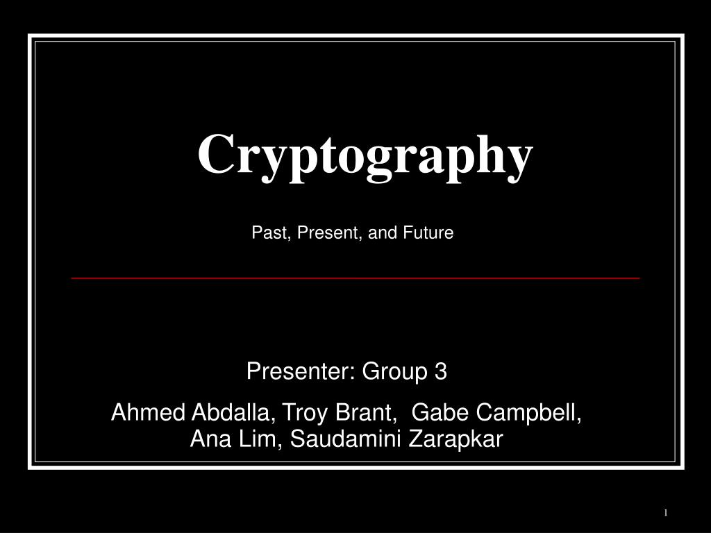 cryptography l.