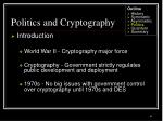 politics and cryptography41