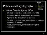 politics and cryptography42