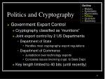 politics and cryptography47