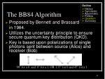 the bb84 algorithm