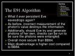 the e91 algorithm63