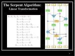 the serpent algorithm linear transformation