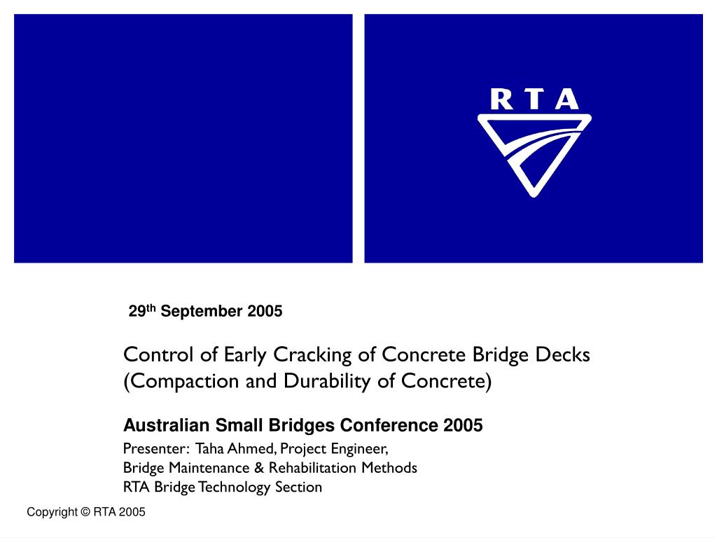 control of early cracking of concrete bridge decks compaction and durability of concrete l.