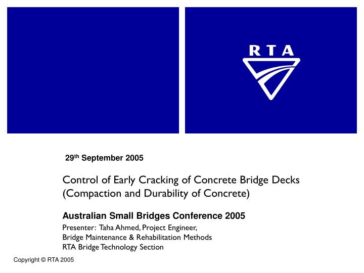 control of early cracking of concrete bridge decks compaction and durability of concrete n.