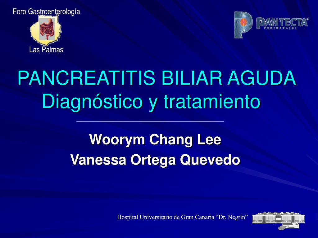 pancreatitis biliar aguda diagn stico y tratamiento l.
