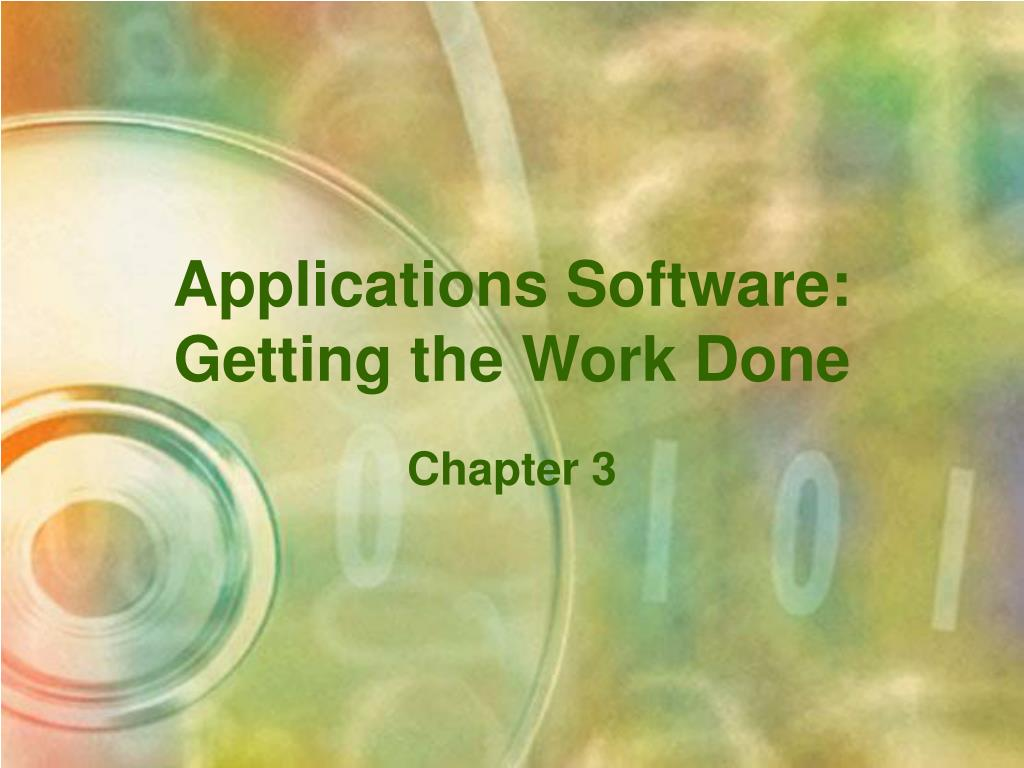 applications software getting the work done l.