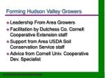 forming hudson valley growers