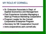 my role at cornell