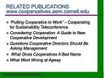 related publications www coopersatives aem cornell edu