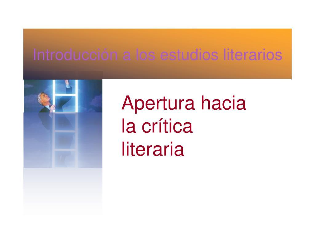 introducci n a los estudios literarios l.