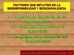 factores que influyen en la biodisponibilidad y bioequivalencia