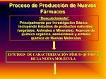 proceso de producci n de nuevos f rmacos
