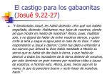 el castigo para los gabaonitas josu 9 22 27