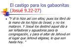el castigo para los gabaonitas josu 9 22 2728