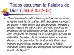 todos escuchan la palabra de dios josu 8 32 3322