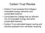 carbon trust review