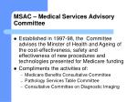msac medical services advisory committee