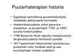 puutarhaterapian historia