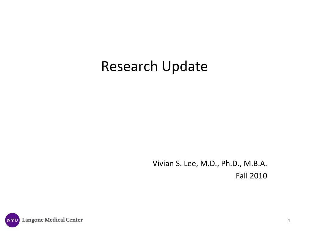 research update l.