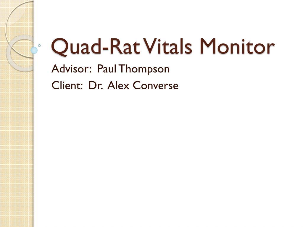quad rat vitals monitor l.